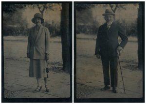 Ferrotipos sobre latón, 1920